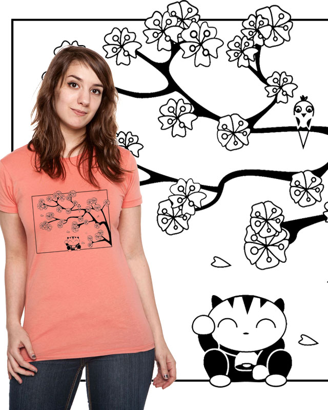 T-Shirt design: lucky cat. Please vot for it