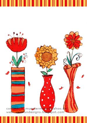 Blumen in der Vase Karte