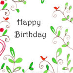 Birthday - little birds