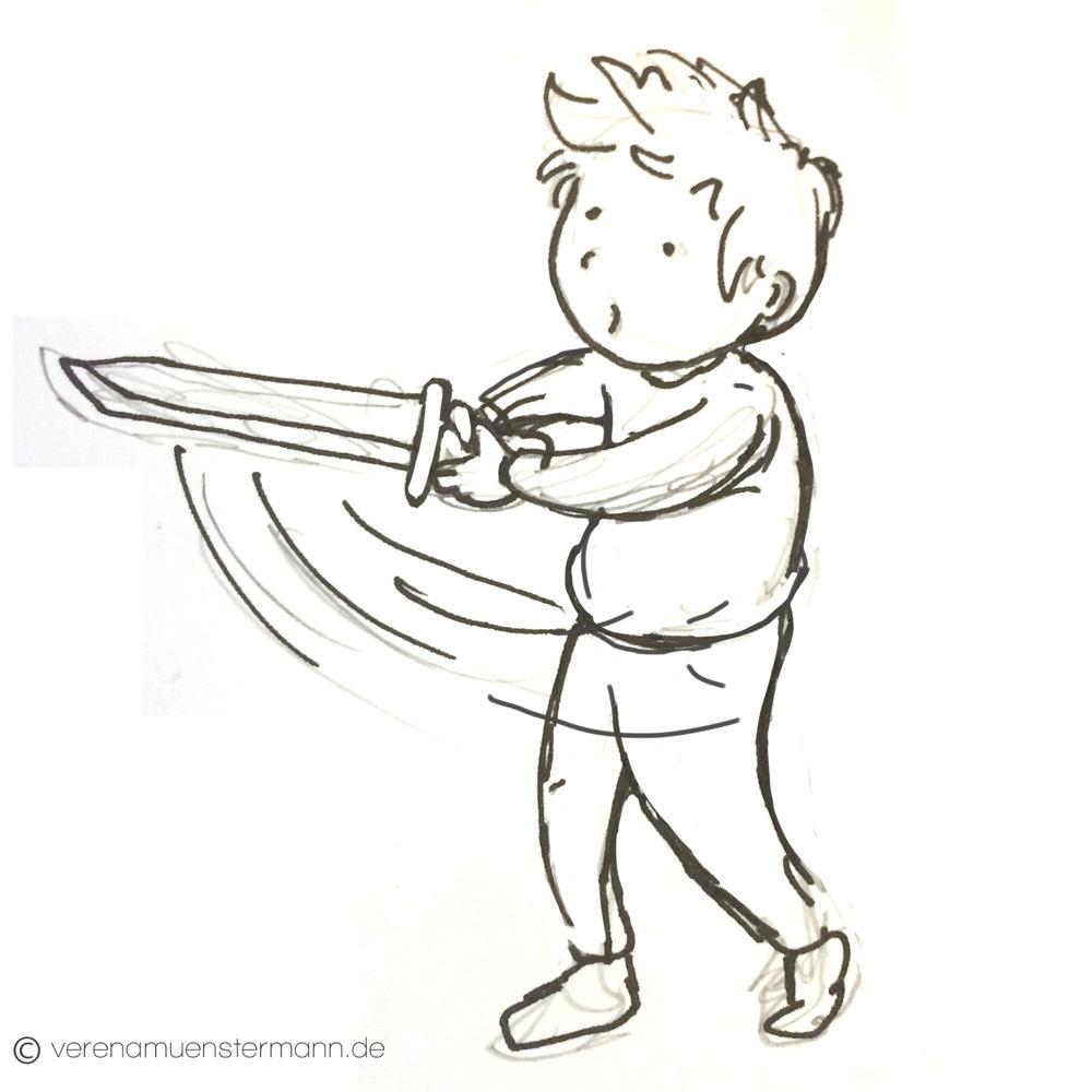 sword inktober