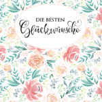verenamuenstermann - Aquarellblumen- Glückwunschkarte