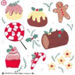 Verena Muenstermann Illustrationen Weihnachtliche Spezialitäten Baumstammkuchen, gingerbread man