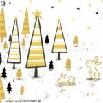 Verena Muenstermann Illustrationen Weihnachtlich geschmückter Wald