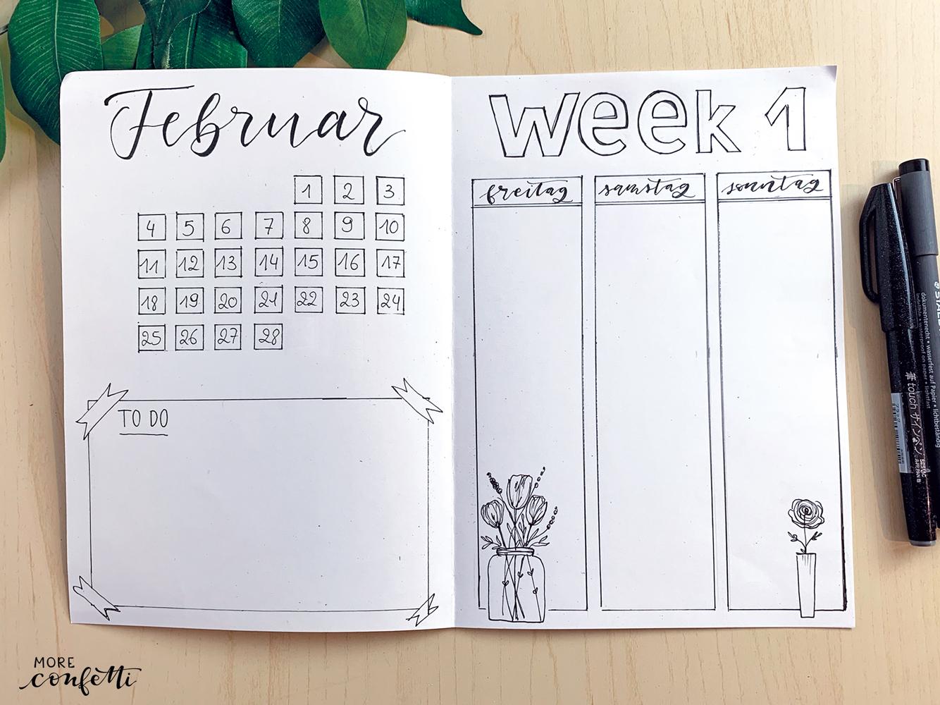 Bullet Journal – Februar