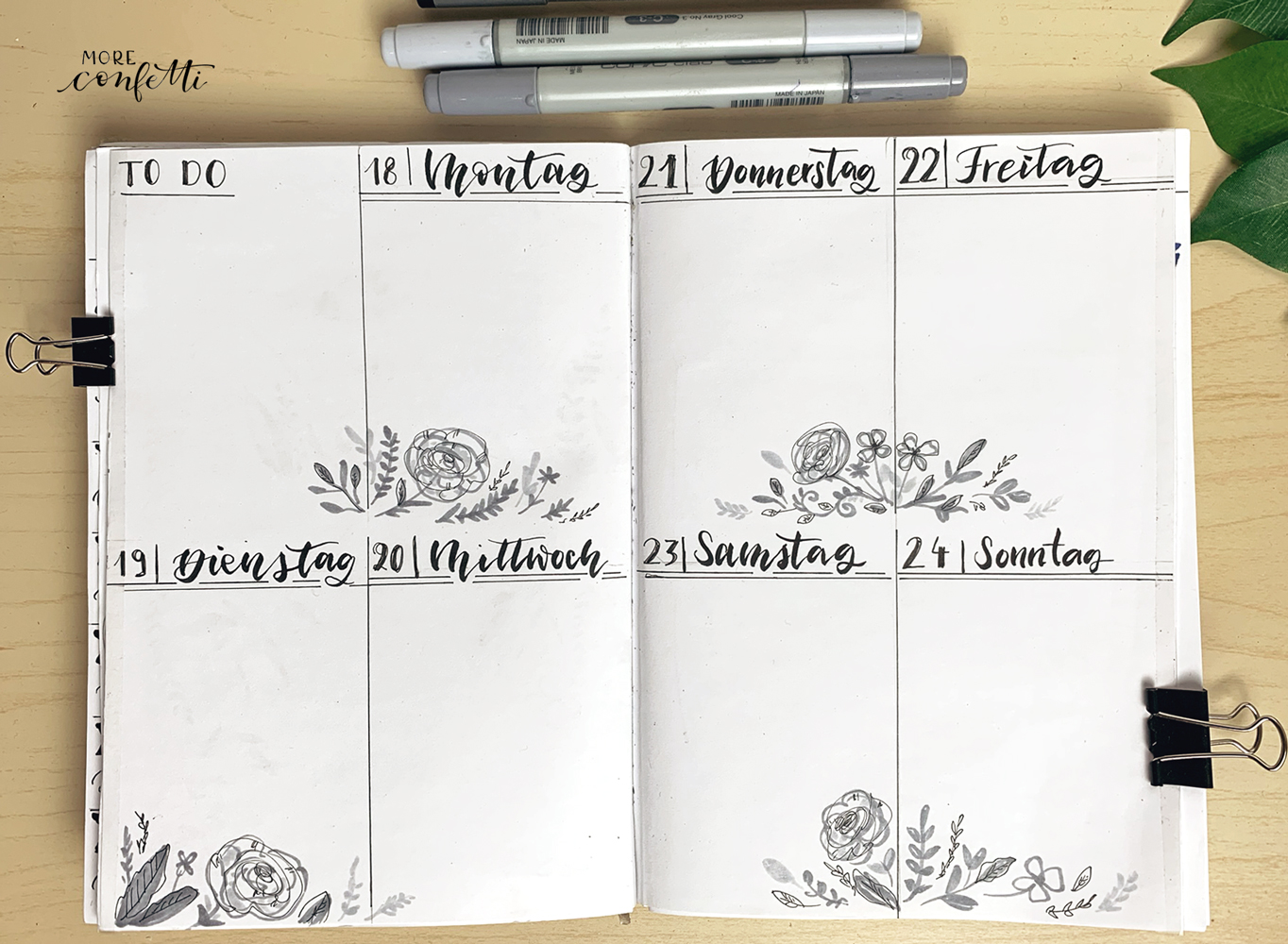 Planen im Bullet Journal Februar 2019