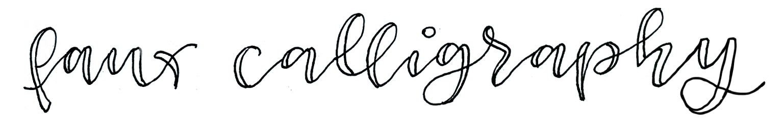 faux calligraphie Beispiel - verenamuenstermann.de
