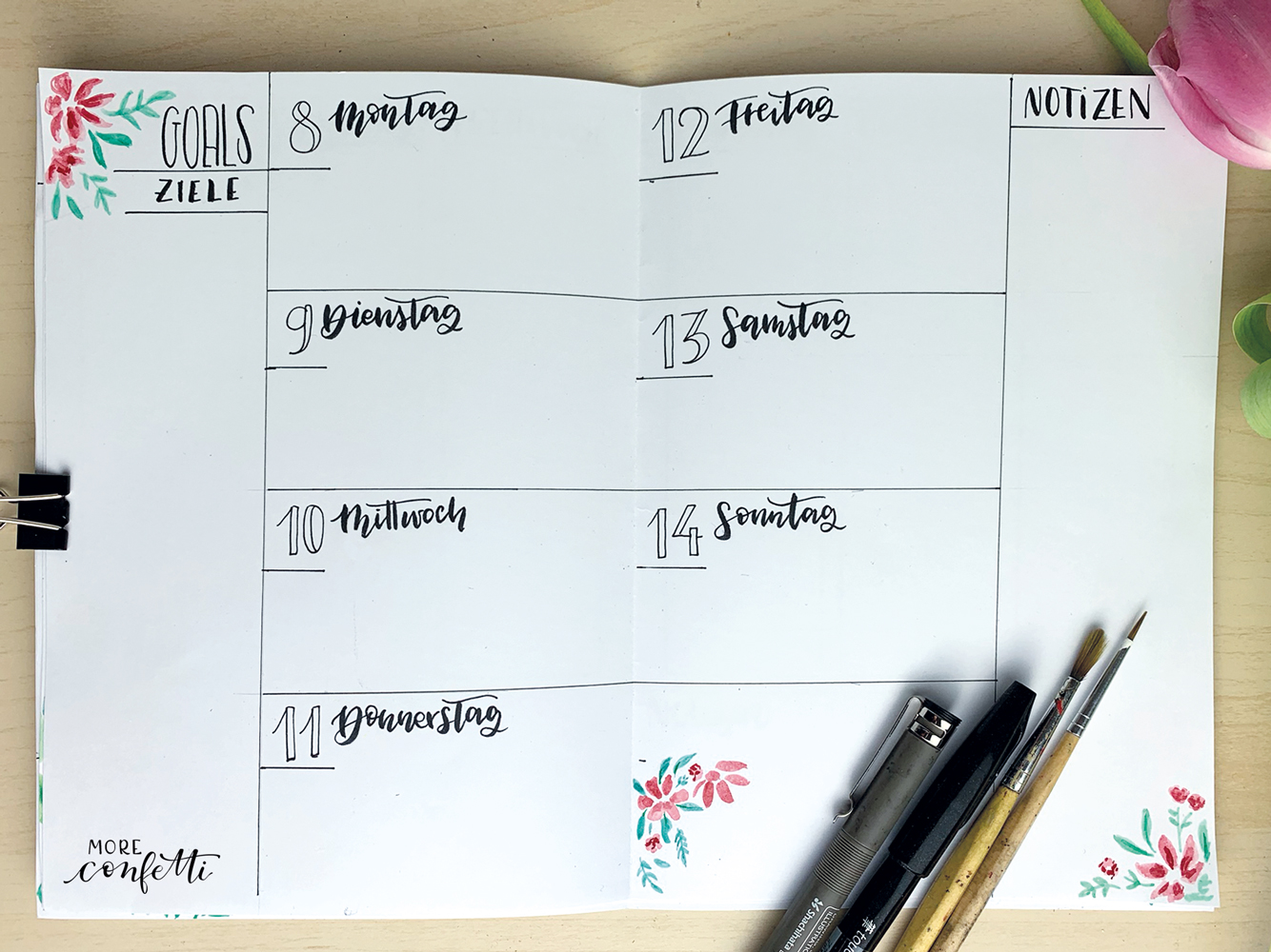 Bullet Journal Setup - April - moreconfetti.de