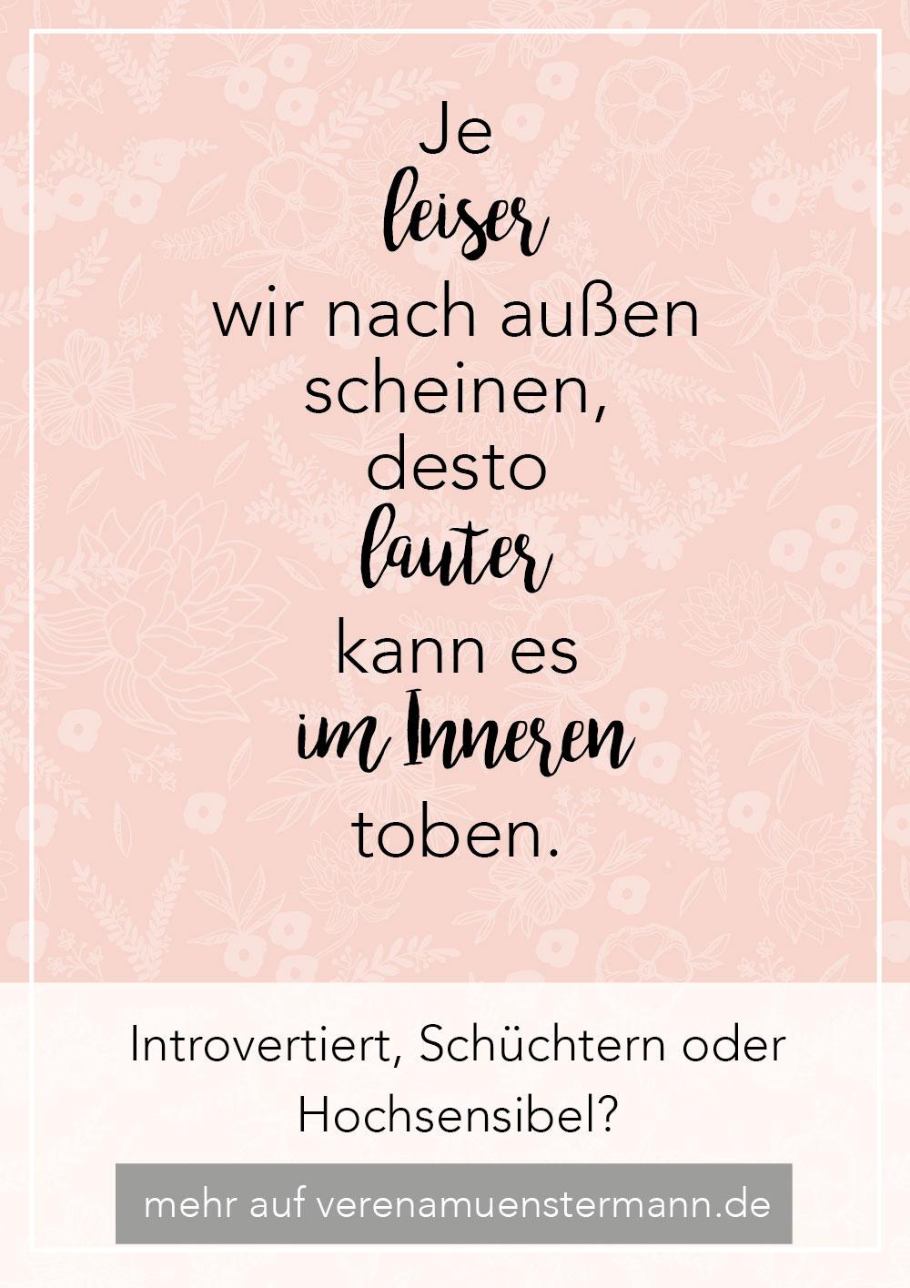 Introversion, Schüchternheit, Hochsensibilität - verenamuenstermann.de