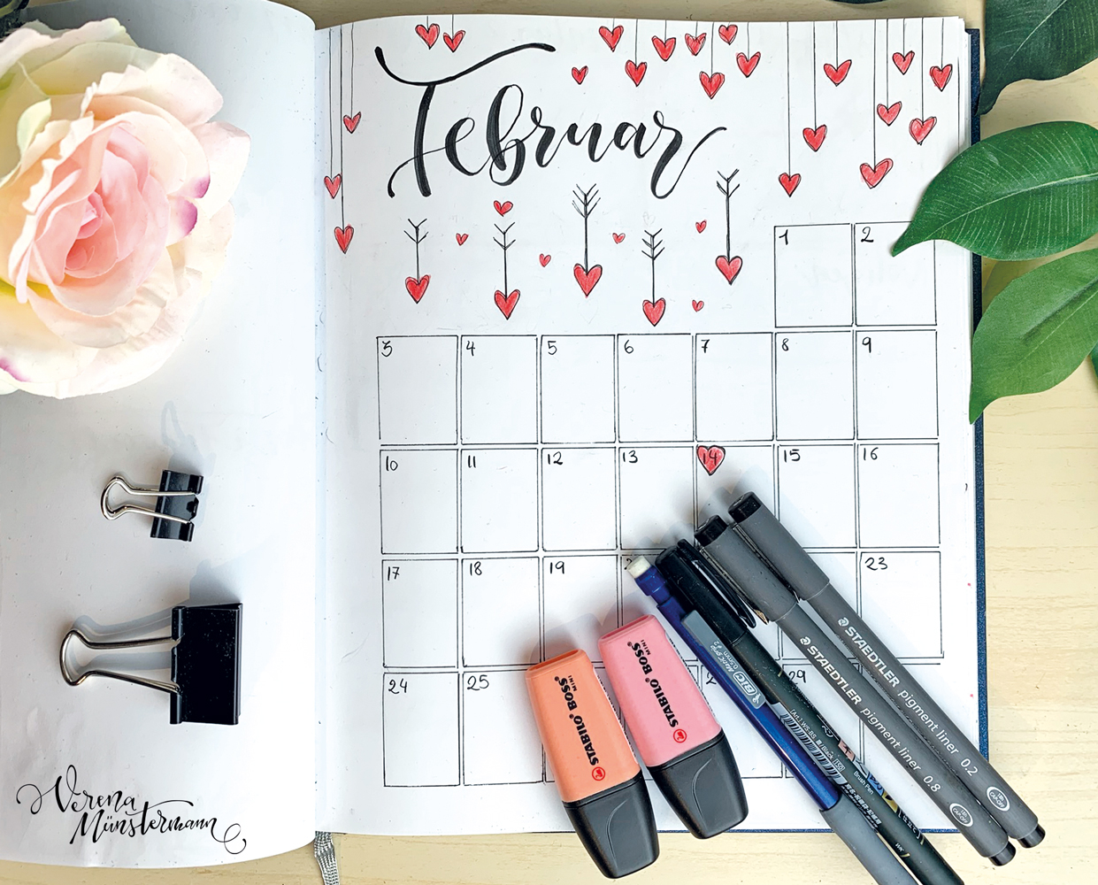 Bullet Journal Setup – Februar 2020