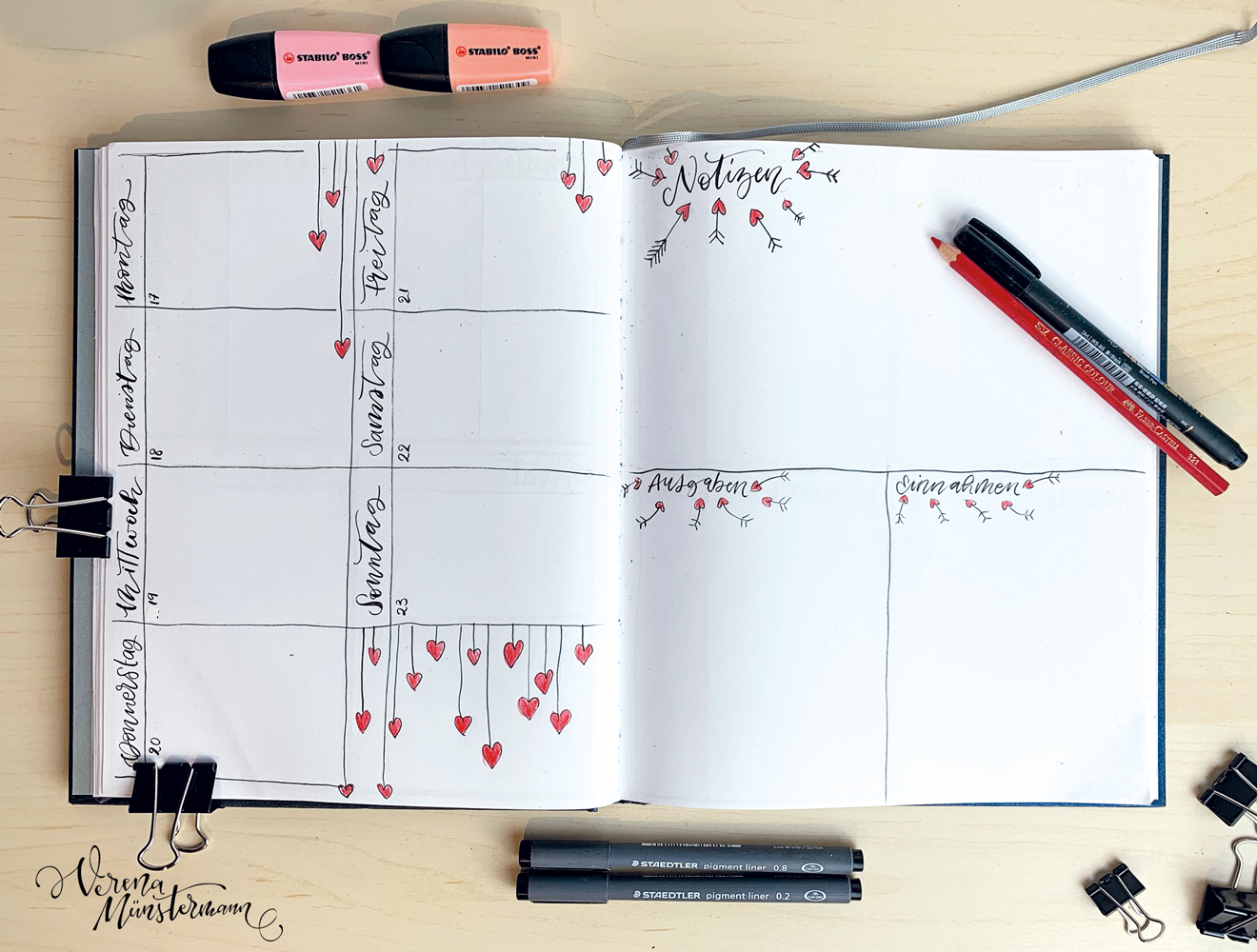 bullet journal - bullet journal februar - verenamuenstermann.de