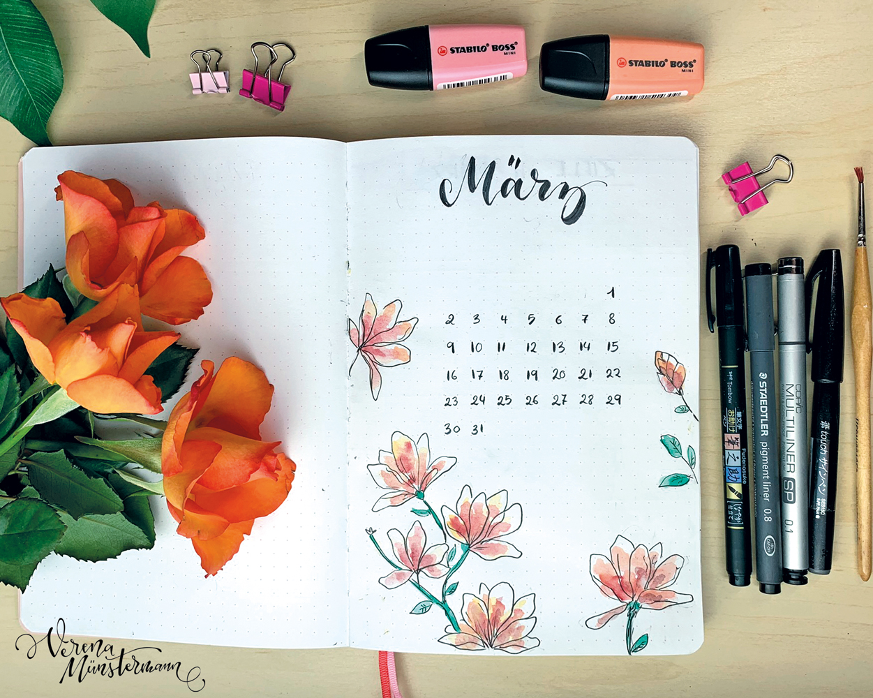 Bullet Journal Setup – März 2020