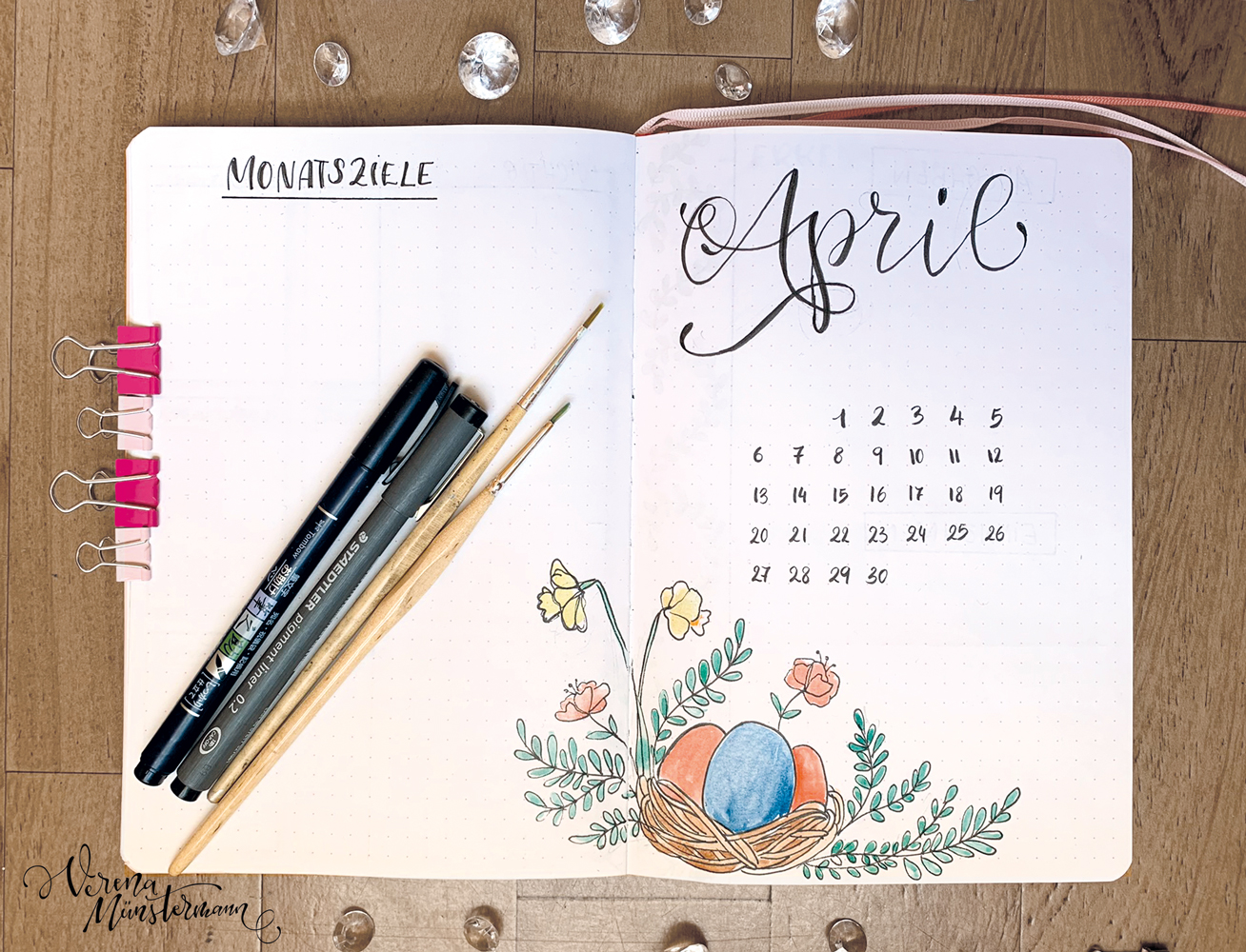 Bullet Journal Setup – April 2020