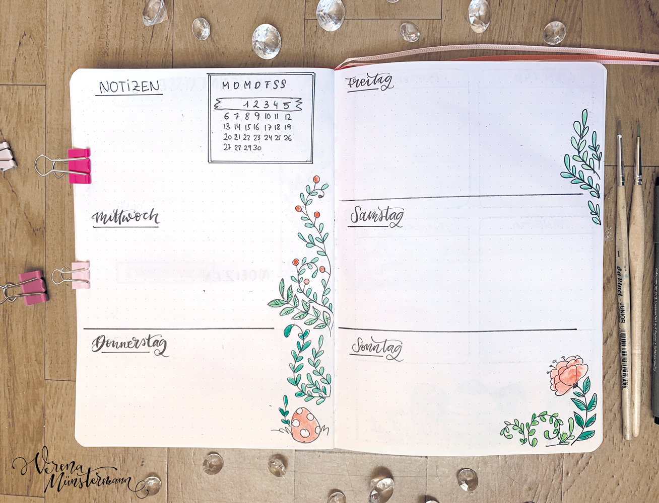verenamuenstermann - Bullet Journal Setup - April 2020