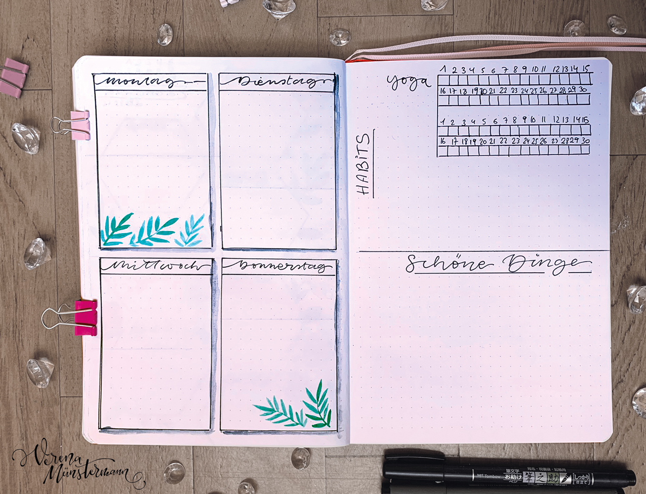 verenamuenstermann - Bullet Journal - Tracker