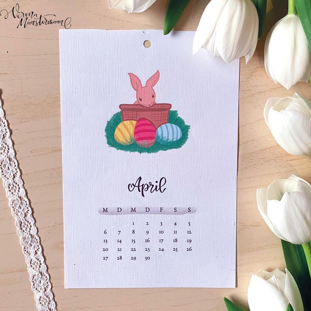 Freebie: Kalender – April – Ostern