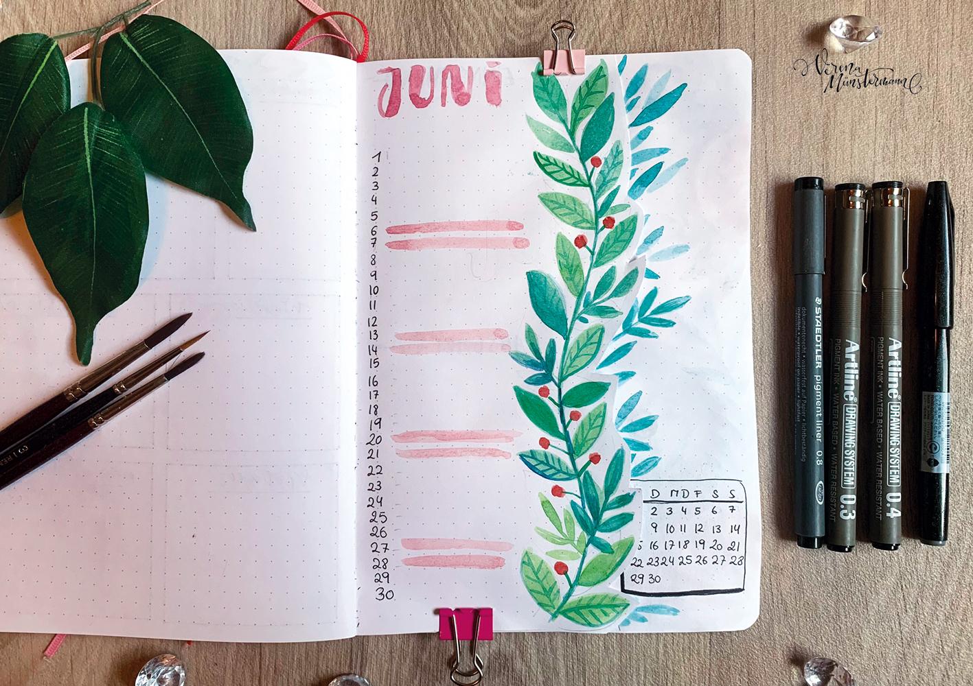 Bullet Journal – Juni 2020