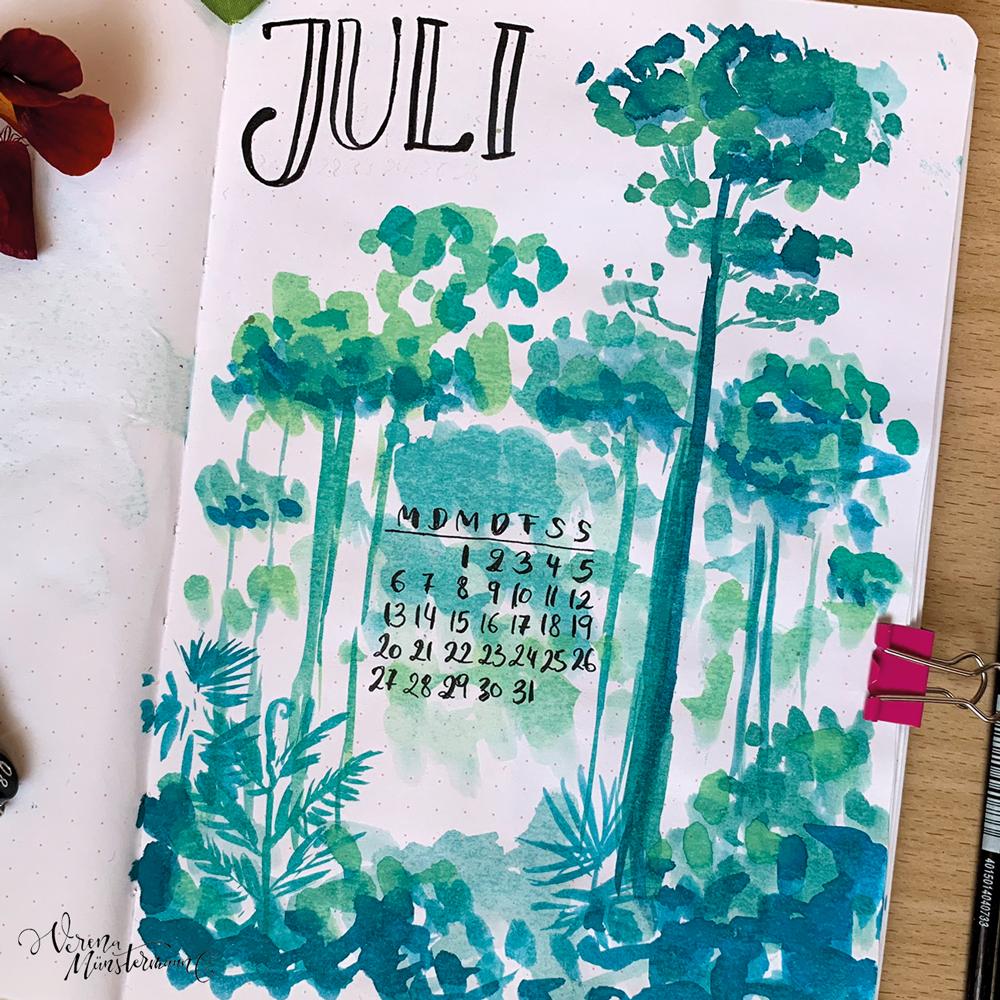 Bullet Journal – Juli 2020