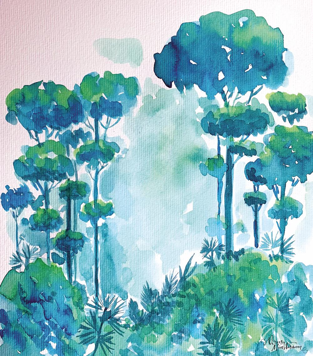 How to – wir malen einen Wald
