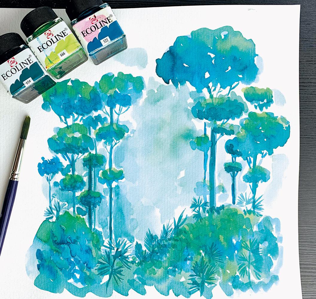 verenamuenstermann - How to - wir malen einen Wald