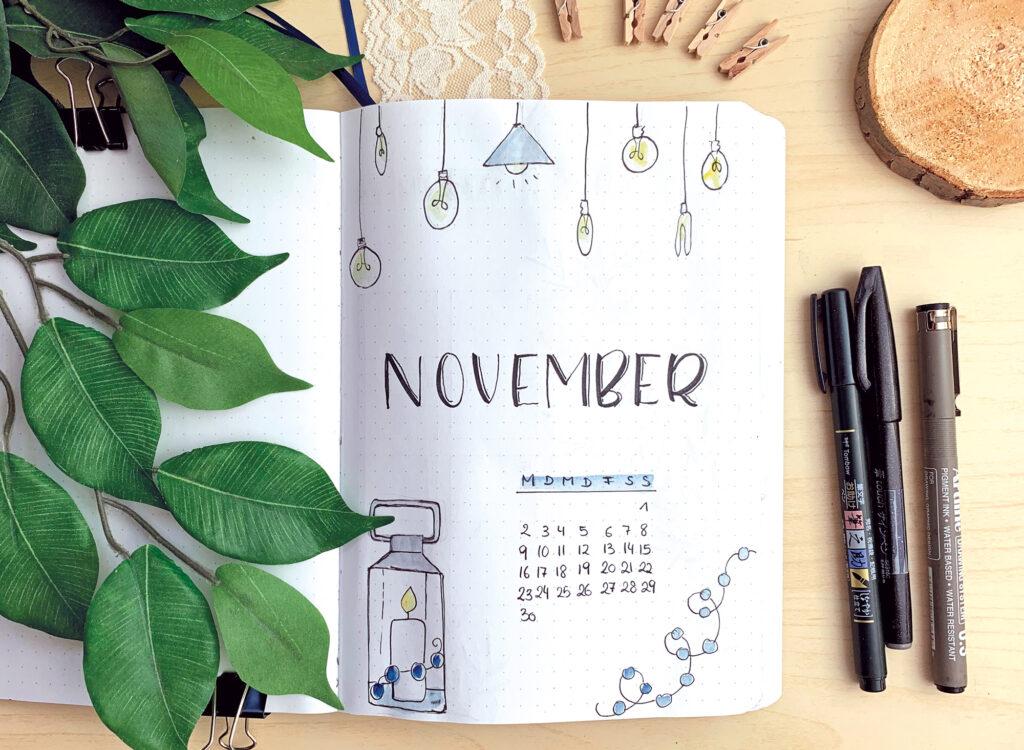 Bullet Journal November 2020