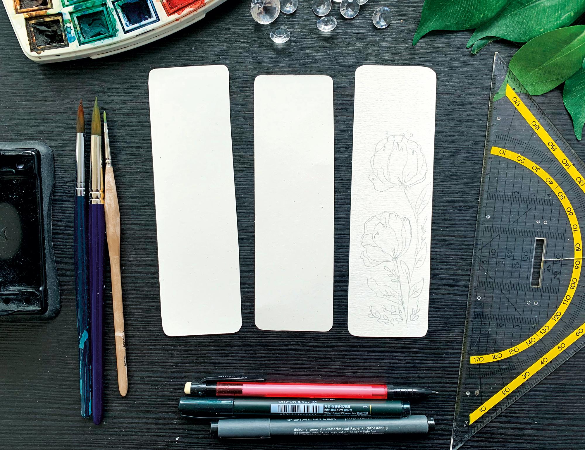 Zeichnungen auf die Papiere abpausen - verenamuenstermann