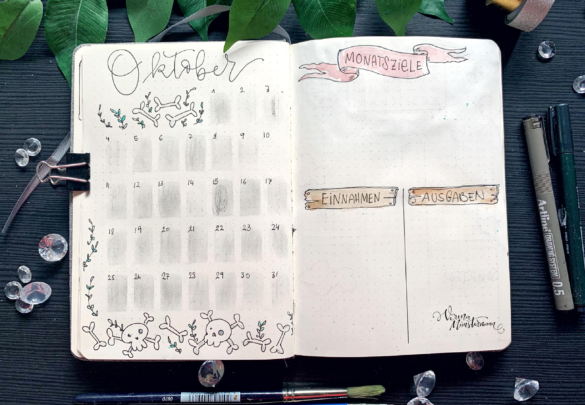 verenamuenstermann - Planer - Kalender - Oktober